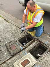 Installing a new Automated Meter Reading (AMR) meters.