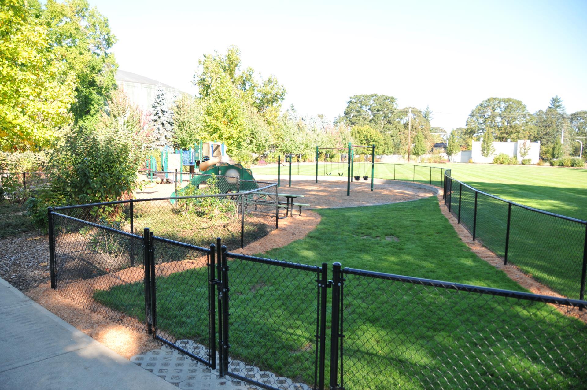 Bicentennial Park's fenced playground