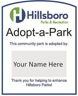 image of a adopt a park sign