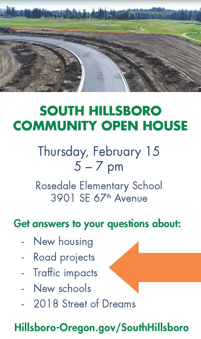 South Hillsboro February 2018 open house