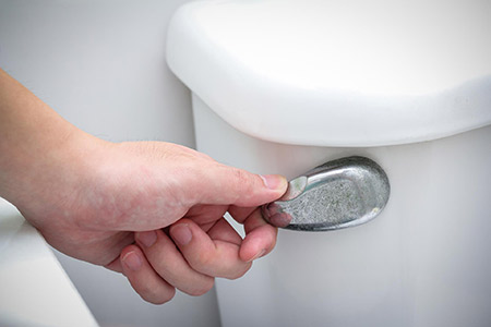 Photo showing a toilet flushing