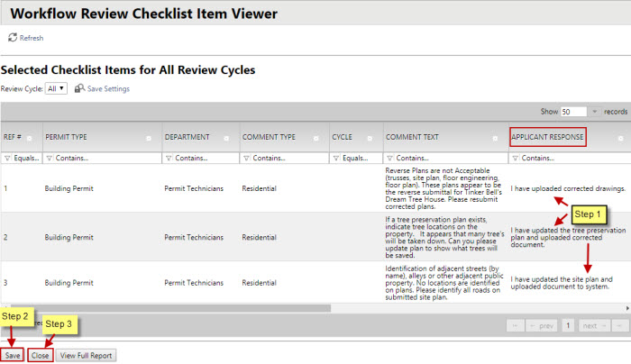 Prescreen Corrections Task - Image of Responding to Checklist Items