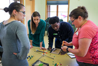 City of Hillsboro employees working on a Eureka challenge together