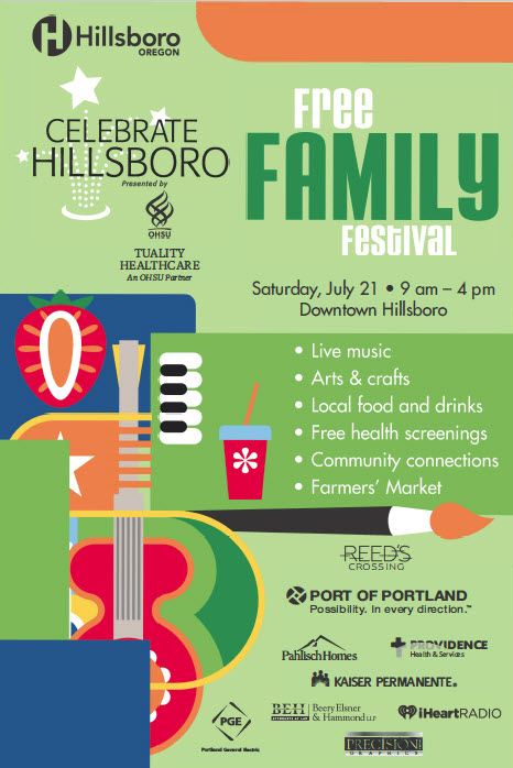 Cover of Celebrate Hillsboro 2018 Event Guide. Click to read PDF.