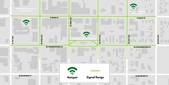 HiHillsboro WiFi coverage map 2018