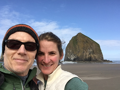 Michael Brown and Brandi Brown Haystack Rock