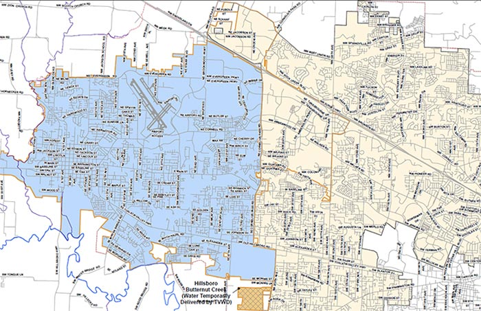 Fluoridated Area Maps City Of Hillsboro OR - Sodium fluoride drinking water mapping in the us
