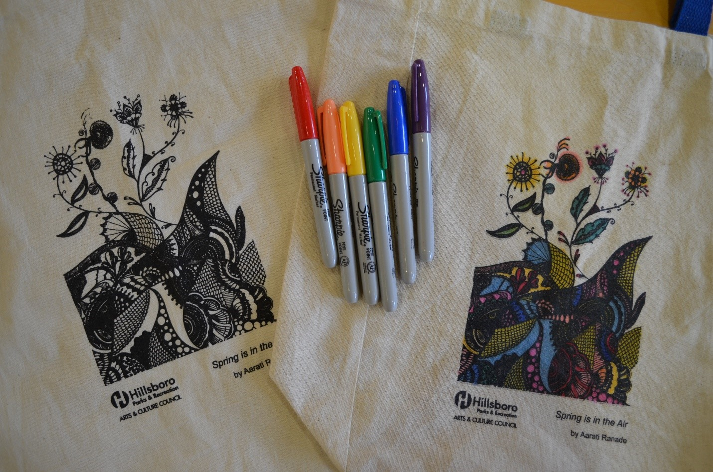 Last year's winning tote bag