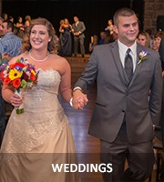 Image of Sarah and Matt Delepine at their wedding at the Walters