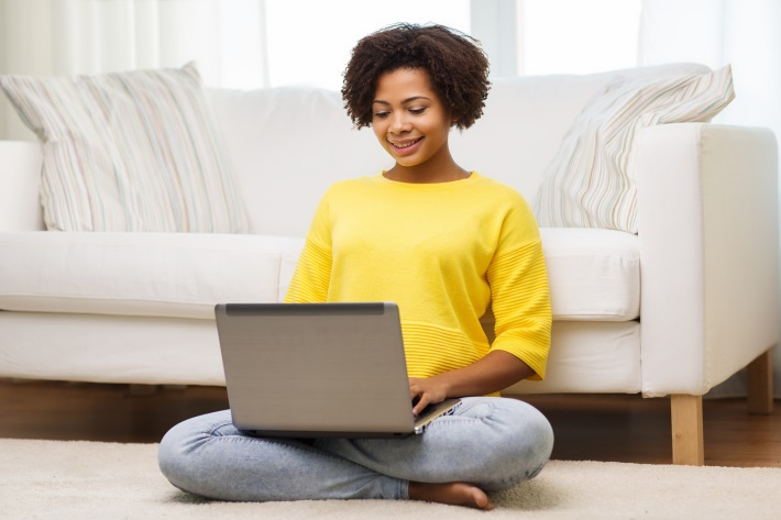 Photo of Woman using a laptop computer