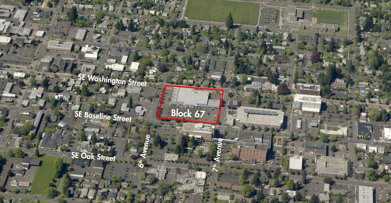 "Community Invited to Open House for ""Block 67"" – Former Site of the Hank's Thriftway Store"