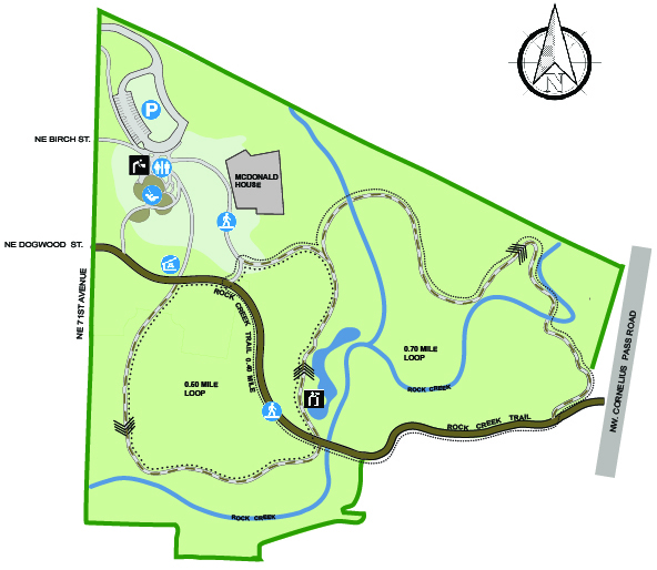 Orenco Woods Nature Park Map