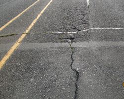 Photo of pavement cracking