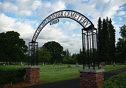 Entrance of Hillsboro Pioneer Cemetary