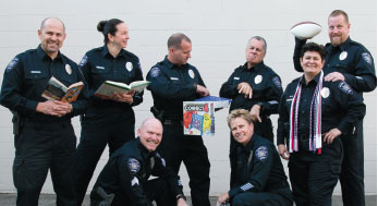 Hillsboro Police Department School Resource Officers posing for a photo