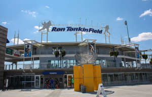 The front of Ron Tonkin Field stadium