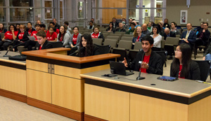 YAC members presenting to City Council