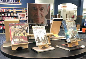 A memorial for Alter Wiener at the Brookwood Library