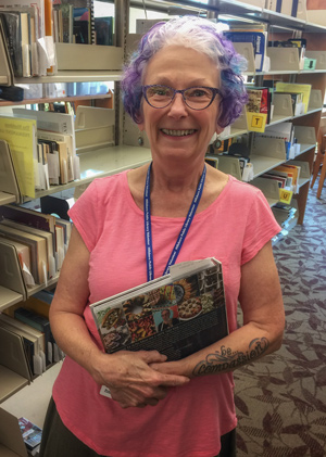 Community volunteer Ann Waterman at the Library