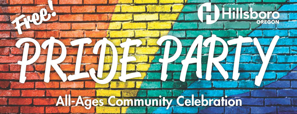 Save the Date! Free Pride Party. All-ages Community Celebration.