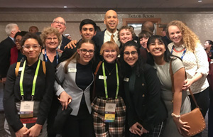 Hillsboro Youth Advisory Council taking a pitcure with Senator Cory Booker