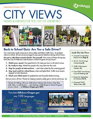 The cover of the May/June 2019 issue of City Views