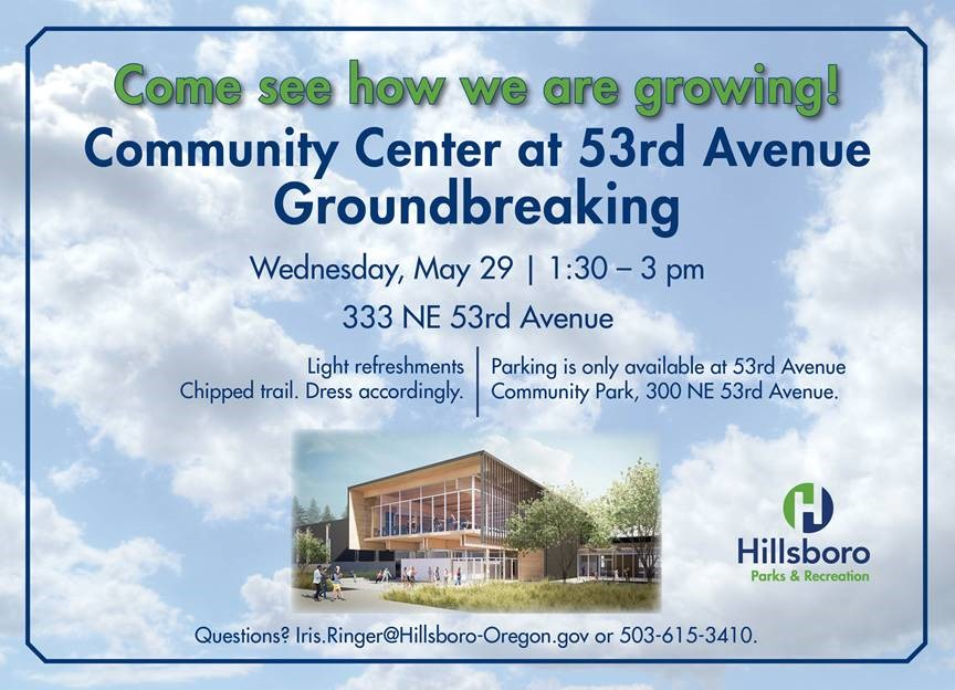 community center at 53rd avenue groundbreaking