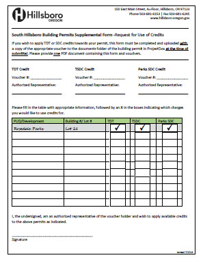 SDC Credit Form Example