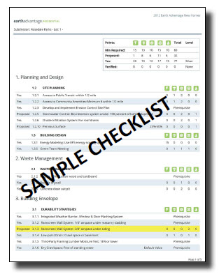 Green Building Certification Checklist example