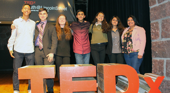 TEDxYouth presenters on stage