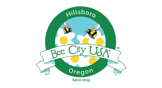 Hillsboro, Oregon - Bee City USA since 2019 logo