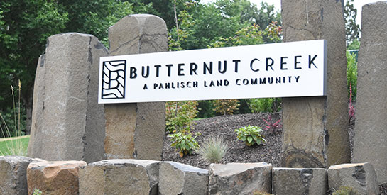 Butternut Creek Entrance Sign