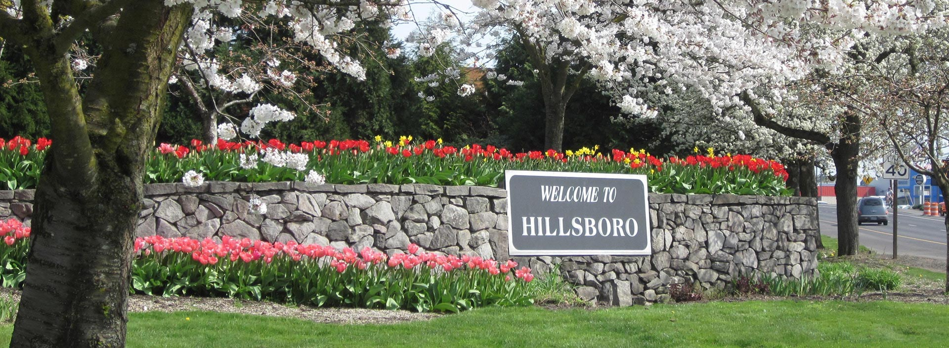 City of Hillsboro welcome sign
