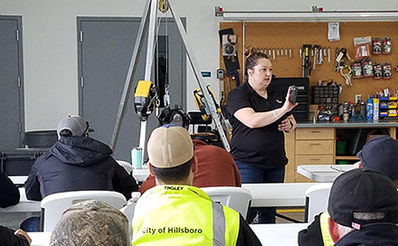 City of Hillsboro employees at a safety training