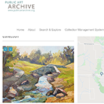 screen shot of the Public Art Archive homepage for Hillsboro Public Art