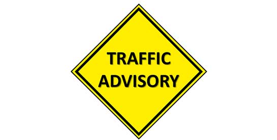 Traffic Advisory Street Sign