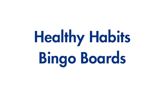 Healthy Habits Bingo Boards
