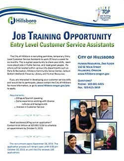 Image of Job Training Opportunity Flyer