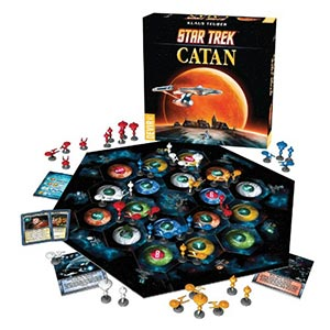 Star Trek Catan board game. Image links to board game catalog on Washington County Cooperative Library Services