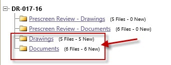 Image showing the Planning Review Folders