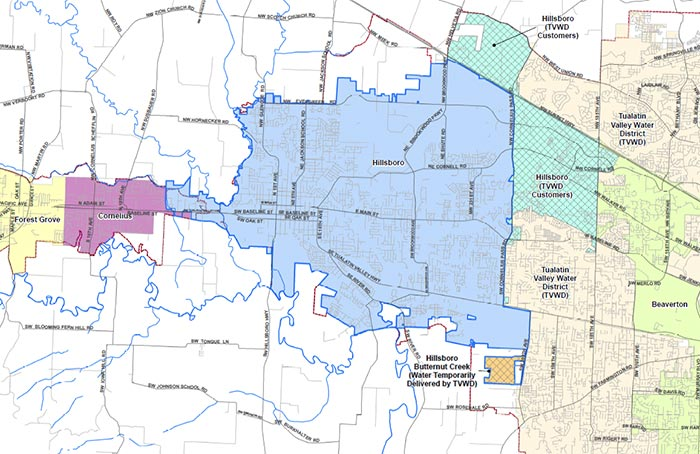 Water Service Area | City of Hillsboro, OR