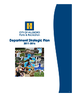 Front cover of Hillsboro Parks & Recreation Strategic Plan.