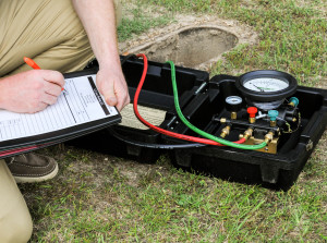 Image showing a backflow test