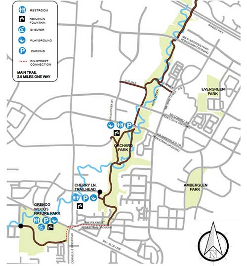 Rock Creek Trail map image