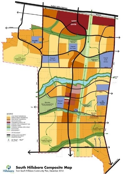 South Hillsboro City Of Hillsboro OR - Map of south oregon