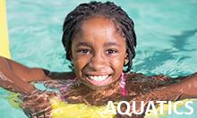 Photo of girl swimming.