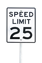 Image of a 25 miles per hour speed limit sign