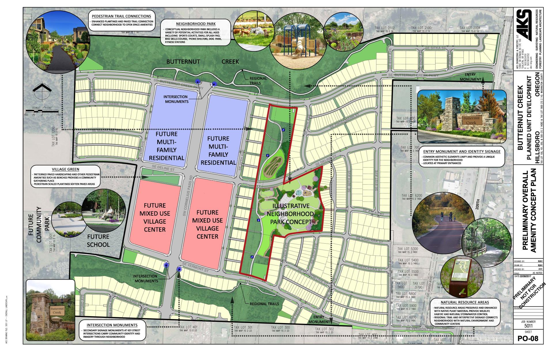 Butternut Creek Preliminary Overall Amenity Concept Plan