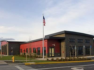 Exterior image of Jones Farm Fire Station